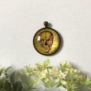 Skull Glass Dome Pendant